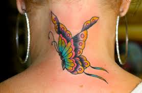 watercolor butterfly tattoo and name photos pictures and