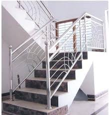 Stainless Steel Stairs Design Steel Railings For Stairs Interior Indoor Stair Iron Handrails