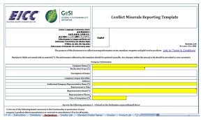 conflict minerals reporting template template