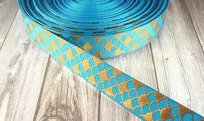 mermaid ribbon mermaid ribbon gold foil ribbon mermaid scale ribbon