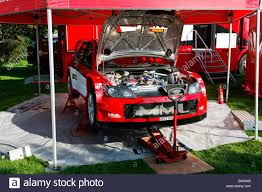 mitsubishi rally car a mitsubishi lancer wrc05 rally car stock photo royalty free