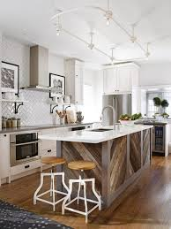 custom white kitchen island wall wooden shelf on white wall solid