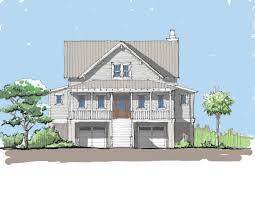 elevated house plans plan 86008bw stylish beach house plan
