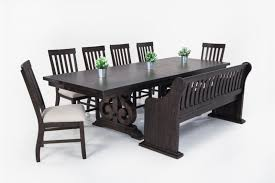 Dining Bench With Storage Sanctuary 8 Piece Dining Set With Full Back Storage Bench Bob U0027s