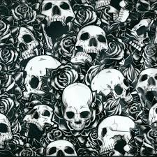skulls and roses hydrographic 100cm