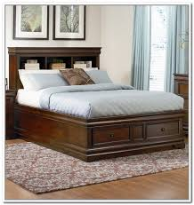 Platform King Bed With Storage Awesome Traditional Bedroom With King Size Platform Bed Storage