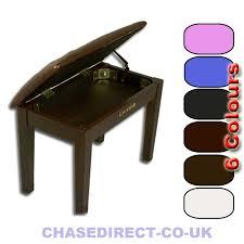 chase digital piano stool keyboard bench black brown white