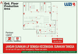 emergency evacuation floor plan template floor plan for factory building or workshop signage area for your