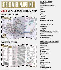 venice vaporetto map streetwise venice water map laminated water map of