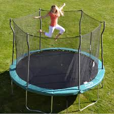 propel trampolines 12 u0027 trampoline with enclosure