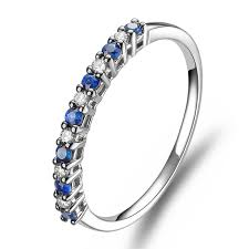Sapphire Wedding Rings by Affordable Diamond And Sapphire Wedding Band On 10k White Gold