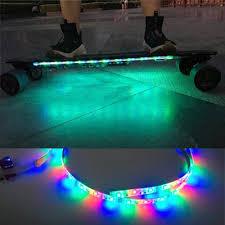 electric skateboard led lights how to put led strip lights underglow on koowheel electric skateboard