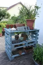 Plant Bench Plans - pallet potting table