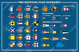 International Code Flags Uluslararası Deniz Flama Deniz Alfabe Vektör çizim Royalty Free