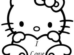 28 hello kitty valentines day coloring pages 49 collections of