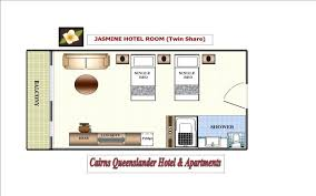 Typical Hotel Room Floor Plan Cairns Hotel Rooms And Holiday Apartment Accommodation