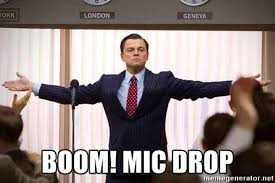 Drop Mic Meme - mike hogan calls out a listener in a mic drop moment radio gold