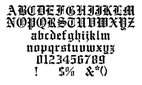 common types old english text mt font free font samples from