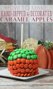 Apple Decorations For Kitchen by Easy Caramel Apples Without Wrapped Candy Caramels Recipe