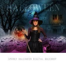 scary halloween backdrops spooky halloween digital backdrop