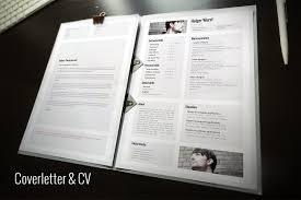 cv cover letter portfolio template resume templates creative