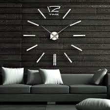 wall clock modern 3d mirror 40 inch modern wall clock room home decor diy bell cool