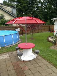 outdoor tables made out of wooden wire spools 44 best repurposed spool projects images on pinterest cable reel