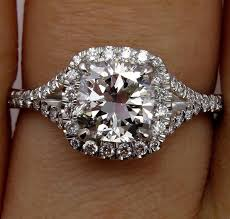 cushion solitaire engagement rings 1 70ct estate vintage cushion cut solitaire engagement