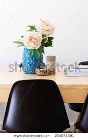 contemporary interior dining table ornaments horizontal stock
