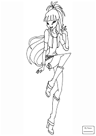 Coloring Pages Cartoons Musa Gardenia Abcfunkids Me Winx Club Musa Coloring Pages