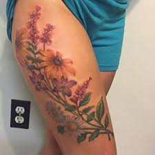 Leg Flower - the 25 best flower thigh tattoos ideas on peony
