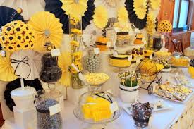 bumble bee decorations bumble bee theme baby shower party ideas decorations baby shower diy