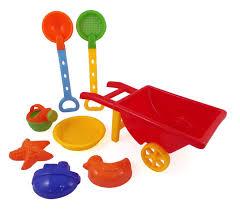 Bathroom Sets For Kids Amazon Com Beach Wheelbarrow Wagon Toy Set For Kids With Sand