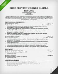 food service resume cover letter for food service musiccityspiritsandcocktail