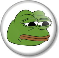 Sad Face Meme - pepe the frog sad face 25mm 1 pin button badge internet meme 4chan