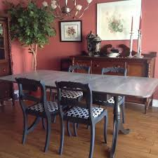 dining room furniture redo with annie sloan chalk paint graphite with