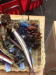 okra and pine cone ornaments greensboro montessori school