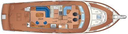luxury yacht floor plans fleming 58 luxury motoryacht for sale burr yacht sales inc