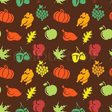 thanksgiving seamless pattern stock vector colourbox
