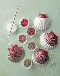 ombre glittered seashell ornaments martha stewart