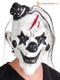 latex horror scary clown mask mini hat hair mens halloween fancy