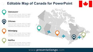 Ottawa Canada Map by Canada Editable Powerpoint Map Presentationgo Com
