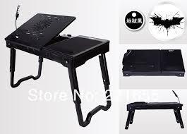 Computer Desk Portable Dhl Fedex Free Shipping Portable Laptop Table Fan Heat Folding