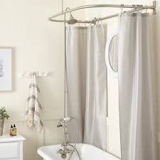 Bathroom Tub To Shower Conversion Gooseneck Clawfoot Tub Shower Conversion Kit D Style Shower Ring