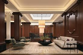 hotel apartment lobby interior design in nyc with apartment lobby