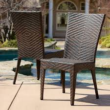 amazon com solana outdoor brown wicker chairs set of 2