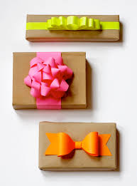 gift bow diy diy neon paper gift bows how about orange