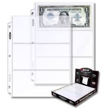 400 pocket photo album lot of 400 bcw 3 pocket currency album pages dollar bill coupon