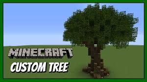 minecraft how to build custom tree tutorial