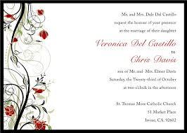 Sample Of Wedding Invitation Card Design Wedding Invitations Free Samples Reduxsquad Com